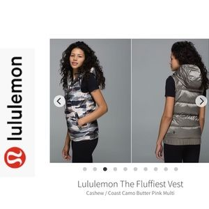 Lululemon The Fluffiest Puffy Vest. Sz 8